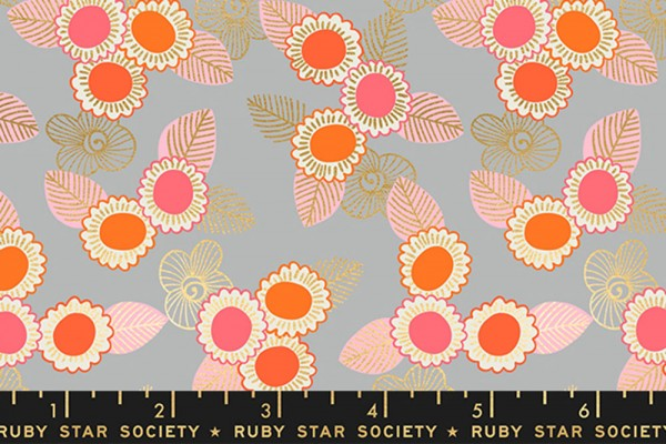 Ruby Star Society Purl by Sarah Watts Embroidered Floral Steel