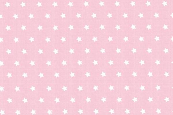 Westfalenstoffe Capri Sterne rosa/weiß