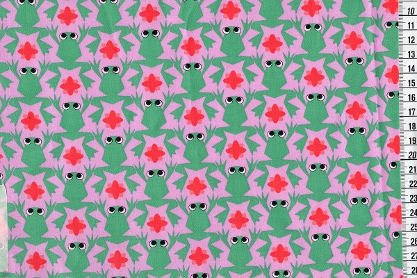 Kiss the frog! acrybeschichtete Baumwolle rosa