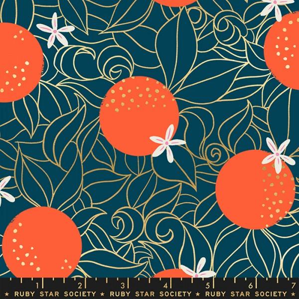 Ruby Star Society Florida by Sarah Watts Orange Blossoms Peacock