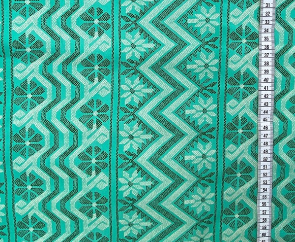 Free Spirit Amy Butler Bright Heart Sateen Cosmo Weave Turquoise