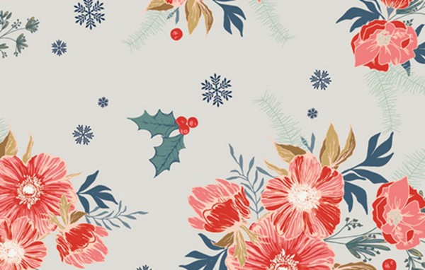 Maureen Cracknell Cozy and Joyful frosted roses