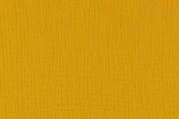 Double Gauze Musselin Uni dark yellow