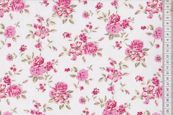 Westfalenstoffe Rosenborg Rosenblüte creme
