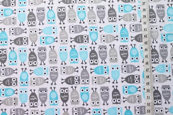 Robert Kaufman Ann Kelle URBAN ZOOLOGIE Minis Owls blue